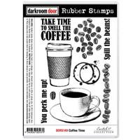 Darkroom Door Cling Stamp: Coffee Time