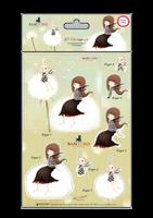 Craft Consortium  Kori Kumi by Santoro  A5 Decoupage Pack 8/Sheets 4 Designs/2 Each