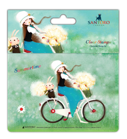 doCrafts Kori Kumi by Santoro  Character Stamp A6 - Summer Time