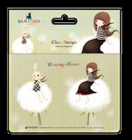 Craft Consortium  Kori Kumi by Santoro  Character Stamp A6 - Blowing Kisses