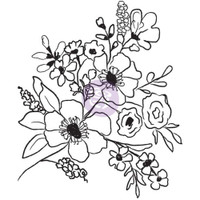 Prima Cling Rubber Stamps by Christine Adolph - Fresh Flowers #2