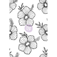 Prima Cling Rubber Stamps by Christine Adolph - Tossed Floral