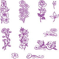 Simply Refined Dies - Where Flowers Bloom, Contour Plus Bouquet Dies (Not Part of the Bundle)