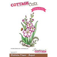 CottageCutz Stamp & Die Set - Gladiolus - August