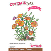CottageCutz Stamp & Die Set - Marigolds - October