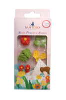 Craft Consortium  Kori Kumi by Santoro   Resin 27/Pkg - Flowers and Leaves
