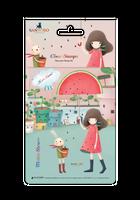 Craft Consortium  Kori Kumi by Santoro  Character Stamp A6 - Melon Shower