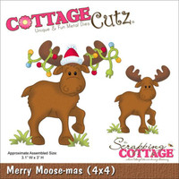CottageCutz Die - Merry Moose-Mas