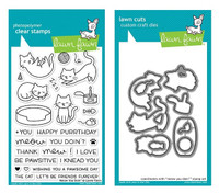 Lawn Fawn Clear Stamps & Dies Bundle - Meow You Doin'