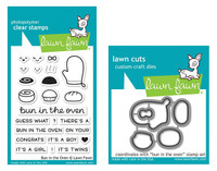 Lawn Fawn Clear Stamps & Dies Bundle - Bun In The Oven