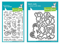 Lawn Fawn Clear Stamps & Dies Bundle - Bicycle Built For You