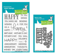 Lawn Fawn Clear Stamps & Dies Bundle - Happy Happy Happy