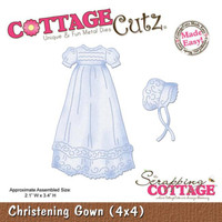 CottageCutz Die - Christening Gown Made Easy