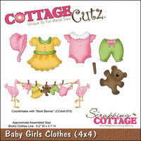 CottageCutz Die - Baby Girl Clothes