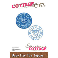 Cottagecutz Die - Baby Boy Tag Topper