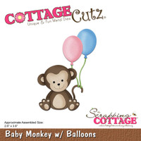 Cottagecutz Die - Baby Monkey With Balloons