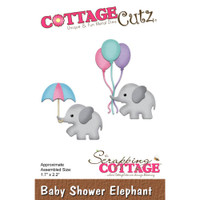 Cottagecutz Die - Baby Shower Elephant