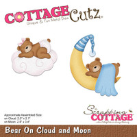 Cottagecutz Die - Bear On Cloud & Moon