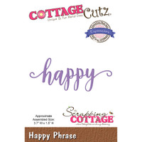 CottageCutz Expressions Plus Die - Happy
