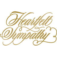 Couture Creations Anna Griffin Hotfoil Stamp: Heartfelt Sympathy