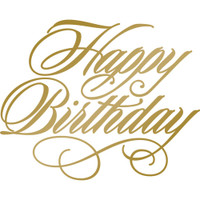 Couture Creations Anna Griffin Hotfoil Stamp: Happy Birthday