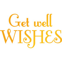 """Ultimate Crafts Classic Sentiments Hotfoil Stamp  3""""X1.7"""": Get Well Wishes"""