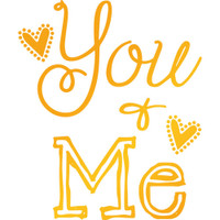 """Ultimate Crafts Sweet Sentiments Hotfoil Stamp  1.9""""X2.2"""": You & Me"""