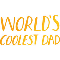 """Ultimate Crafts Sweet Sentiments Hotfoil Stamp  2.5""""X1.3"""": Coolest Dad"""