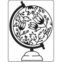 Darice A2 Embossing Folder - Globe