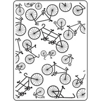 Darice A2 Embossing Folder - Bicycle
