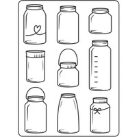 Darice A2 Embossing Folder - Jars