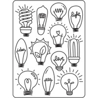 Darice A2 Embossing Folder - Light Bulbs