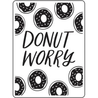Darice A2 Embossing Folder - Donut Worry