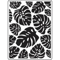 Darice A2 Embossing Folder - Tropical Leaf