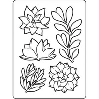 Darice A2 Embossing Folder - Succulents