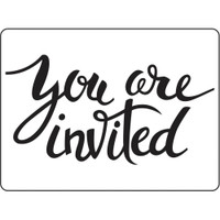 Darice A2 Embossing Folder - You Are Invited