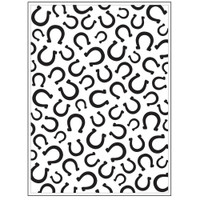 Darice A2 Embossing Folder - Horseshoes