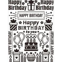 Darice A2 Embossing Folder - Birthday Collage