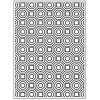 Darice A2 Embossing Folder - Octagons