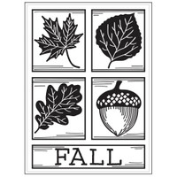 Darice A2 Embossing Folder - Fall Square