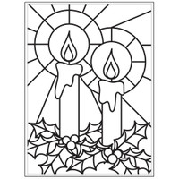 Darice A2 Embossing Folder - Mosaic Candle