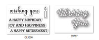 Memory Box Craft Stamps & Die Set - Perky Wishing You