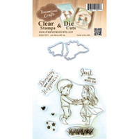 Dreamerland Crafts Clear Stamp & Die Set 4X4 - Just Dance With Me
