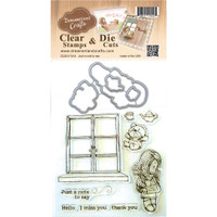 Dreamerland Crafts Clear Stamp & Die Set 4X4 - Just A Note To Say