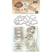 Dreamerland Crafts Clear Stamp & Die Set 4X4 - Friends Are Always There For You