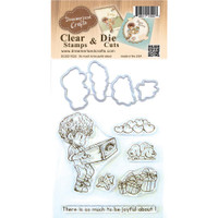 Dreamerland Crafts Clear Stamp & Die Set 4X4 - So Much To Be Joyful About