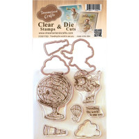 Dreamerland Crafts Clear Stamp & Die Set 4X4 - Traveling The World To See You