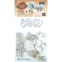 Dreamerland Crafts Clear Stamp & Die Set 4X4 - Shopping Makes Me Happy