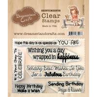 Dreamerland Crafts Clear Stamp Set 3X4 - Birthday Sentiments 02