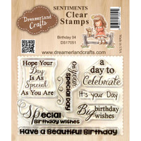 Dreamerland Crafts Clear Stamp Set 3X4 - Birthday 04
